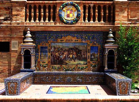 bancos de ecuador en espa a bancos de cer 225 mica y escudos de la plaza de espa 241 a de