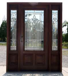 mahogany exterior door with sidelights n 200 mystic 6 8 ebay