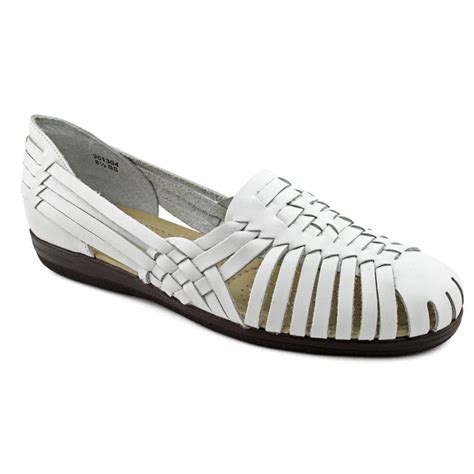white flat womens shoes softspots softspots d leather white flats flats