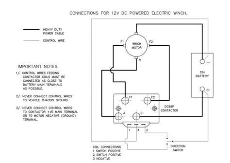 wiring diagram  winch contactor wiring diagram