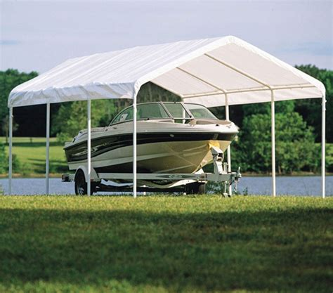 outdoor boat canopy shelterlogic 12 x 20 boat storage canopy in canopies