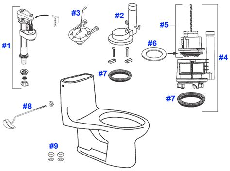 Toto Plumbing Parts by Toto Ultimate Toilet Replacement Parts