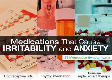 anxiety mood swings irritability medications that cause irritability and anxiety