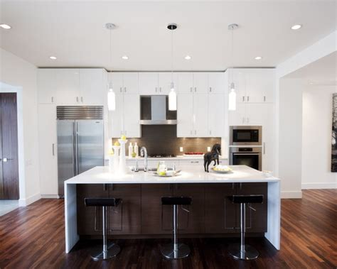 types of kitchen countertops large kitchen island with bathroom lovely contemporary kitchen design with