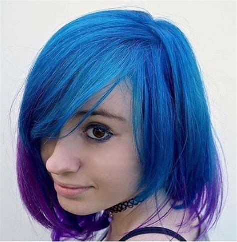 dyed bobs 20 blue and purple hair ideas