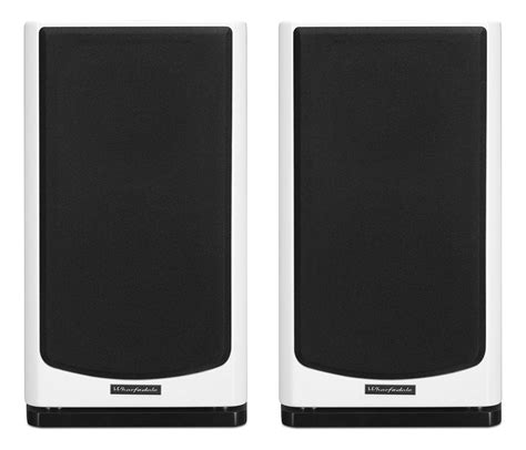 wharfedale reva 2 gloss white bookshelf speakers pair
