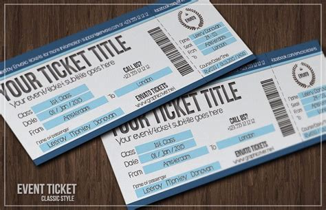 creative event ticket template exle with boarding pass