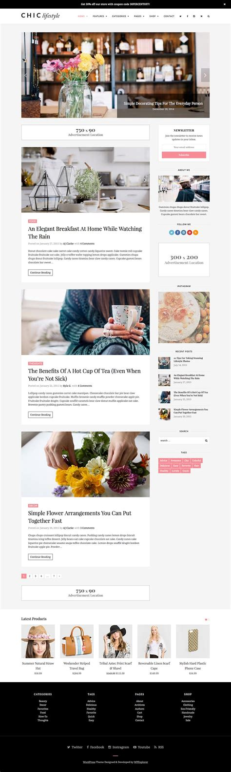 blogger store themes chic blog woocommerce store wordpress theme wpexplorer