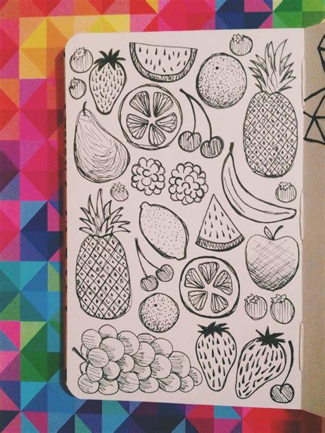 moleskine doodle ideas fruit doodled in my moleskine sketchbook with micron pens