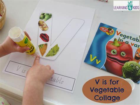 vegetables 5 letters v is for vegetables letter v activity learning 4