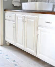 Spray Painting Kitchen Cabinets by Painted Bathroom Cabinets Centsational