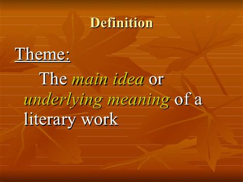 theme definition for ells theme in literature