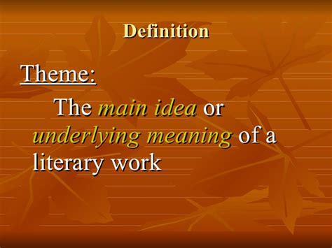 literature main themes theme in literature