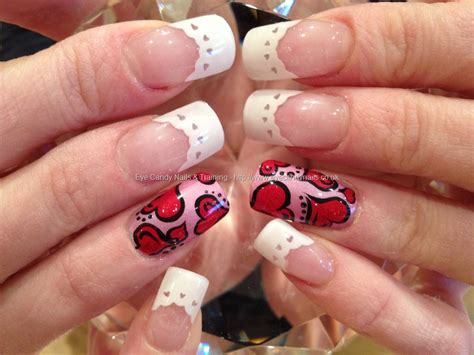 acrylic nails for valentines valentines freehand nail with pre shaped