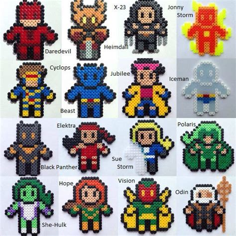 hama marvel 51 best images about hama heroes on