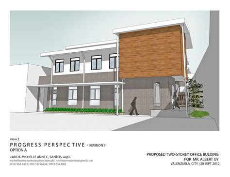 commercial building plans 2 story commercial office architecture and interior design by michelle anne santos
