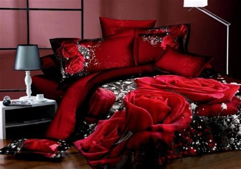 red and black king size comforter sets 3d black and red rose flower print bedding sets queen king