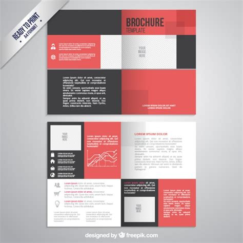 Brochure Template In Black And Red Color Vector Free Download Booklet Template