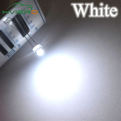 Led 5mm Merah Straw Hat Clear Bright 100pcs 5mm diode straw hat white green blue yellow