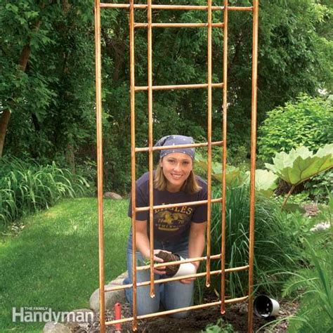 Small Decorative Trellis How To Build A Copper Trellis For Your Garden The Family