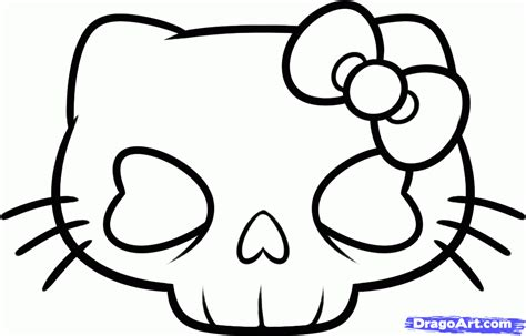 cute skull coloring pages easy skull drawings cliparts co