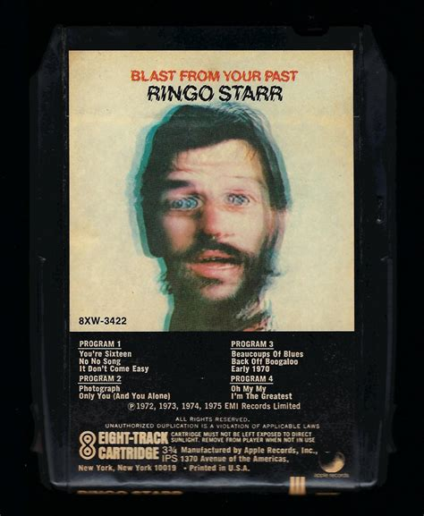 ringo starr blast from your past ringo starr blast from your past 1975 apple a30 8 track tape
