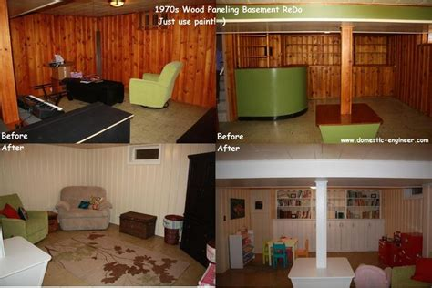 wood paneling basement quot before and after quot basement painting half wall wood
