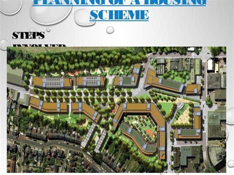 housing planner planning of a housing scheme