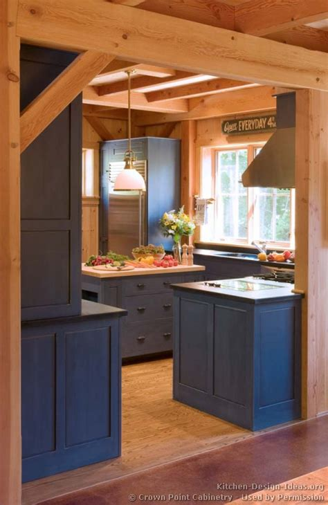 blue kitchen ideas pictures of kitchens traditional blue kitchen cabinets