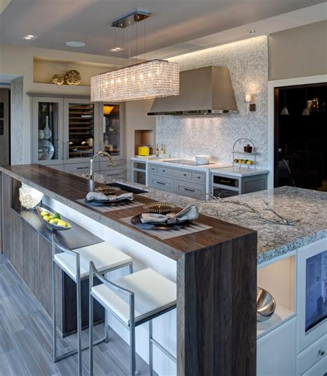 32 Magnificent Custom Luxury Kitchen Designs By Drury Design Modern Kitchen Island Ideas