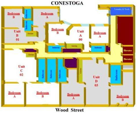 Dorm Room Floor Plans conestoga hall point park university