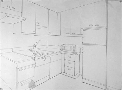 2 Point Perspective Interior Room by Basic Drawing 1 Exles Of 2 Point Interiors