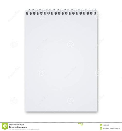 sketchbook pad blank sketch pad stock photo image 51830487