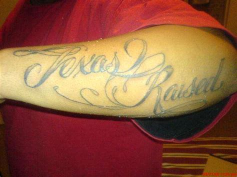 tattoo lettering raised texas raised tattoo
