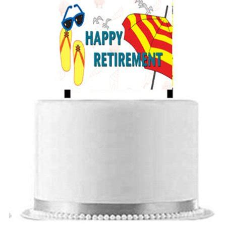 retirement cake decorations happy retirement cake decoration banner walmart