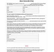 California Bill Of Sale Form  8ws Templates &amp Forms