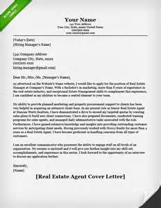 cover letter sles for real estate cover letter