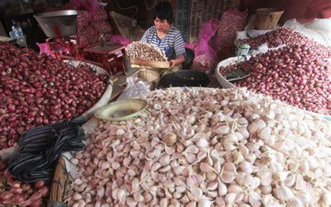 Tinggi Putih Merah harga beras dan telur naik paling tinggi bawang putih