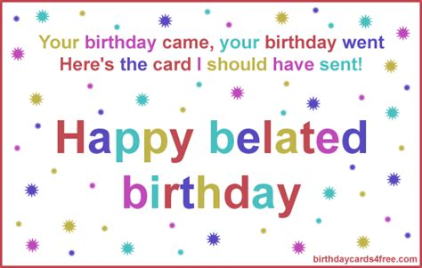 Happy Belated Birthday E Card 42 Best Belated Birthday Greeting Card Pictures