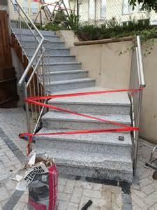 treppe mit granitplatten belegen die betontreppe aussen mit granitstufen verkleidet