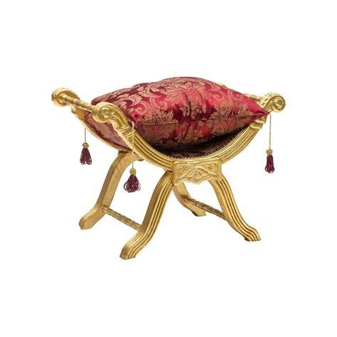 savonarola sedia savonarola sedia poltrona oro e tessuto rosso fiori cuscino