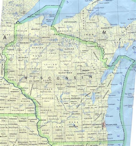 wisconsin state map map of wisconsin a source for all kinds of maps of wisconsin