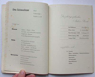 section at the end of a book felix books schmidt der berufsphotograph wiedler ch