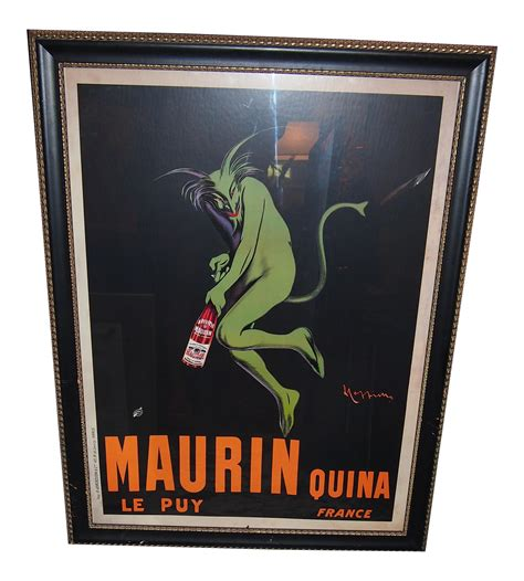 New Maurin Set vintage maurin liquor poster chairish