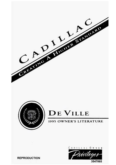 1995 cadillac deville 4 9 l owners manual