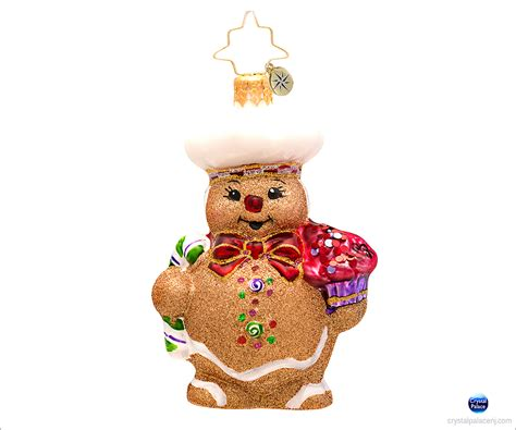 christopher radko ginger baker gem christmas ornament