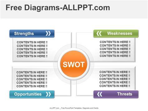 color swot diagram powerpoint template
