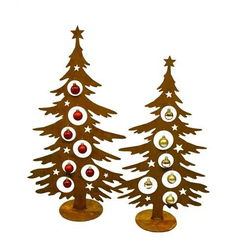 edelrost weihnachtsbaum 60 cm hoch f 252 r christbaumkugeln