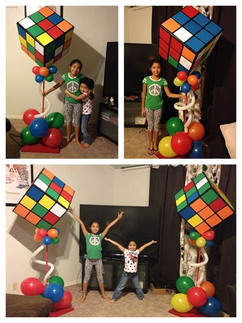 cube decorations ginormous rubik s cube decorations for 80 s themed party