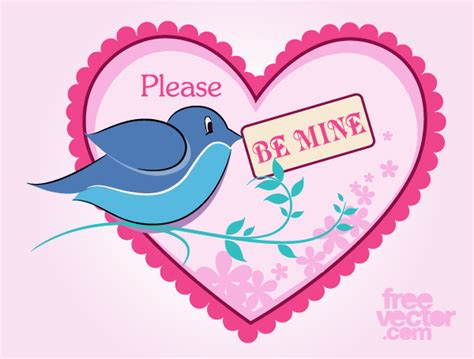 be mine s day card vector template 123freevectors